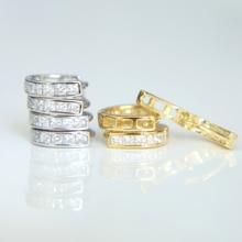 Stud-Earrings Flower Wedding 925-Sterling-Silver Vintage Women New-Fashion Color Statement