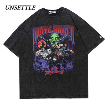 2020 Harajuku t shirts Oversized Summer Men/Women Hip Hop Fashion Gothic Print Tshirt Men Streetwear T-shirts Short Sleeve