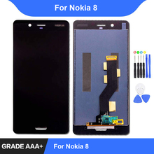 цены на For Nokia 8 LCD Display Touch Screen Digitizer Assembly Repair Parts for Nokia 8 Display Replacement  в интернет-магазинах