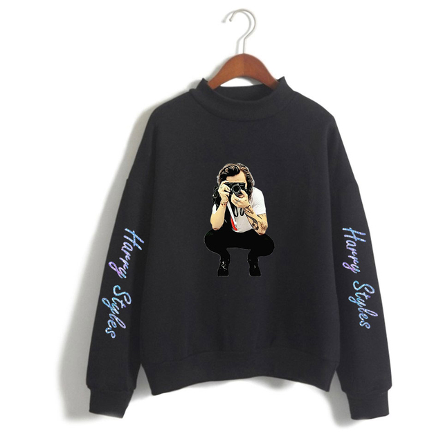 2019  Turtleneck Sweatshirt Fashion Rapper Singer Hip Hop Pullover Oversize  sweatshirt for women 2