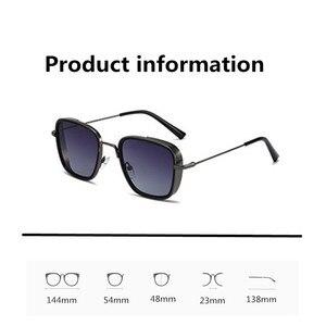 Image 5 - Мужские Винтажные Квадратные Солнцезащитные очки AIMISUV, модные поляризационные металлические очки в стиле панк Кабир Singh, мужские солнцезащитные очки UV400
