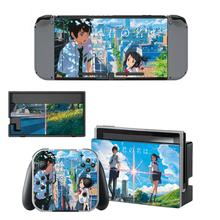 Hatsune Miku Vinyl Skin Sticker For Nintendo Switch NS Console Joy-Con Controller Japanese Anime Characters Decal
