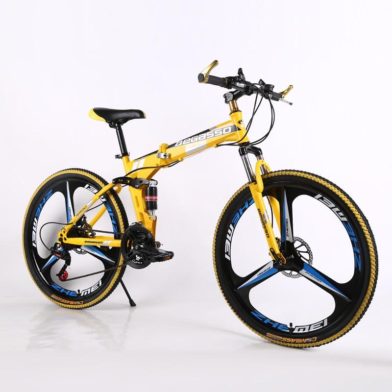 New 24inch Mountain Bike Woman/man Bicycle  21speed Folding Mountain Bike Spoke Wheel/knife Wheel Mountain Bicycle Adult Bike