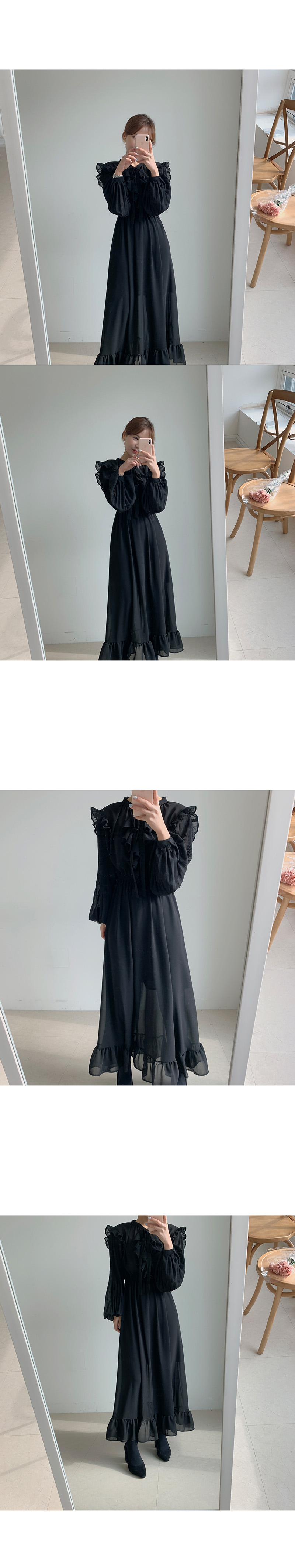 H97f3fe4a590e47648e5e5bfb0fd8ca1f6 - Autumn O-Neck Long Sleeves Chiffon Ruffles Maxi Dress
