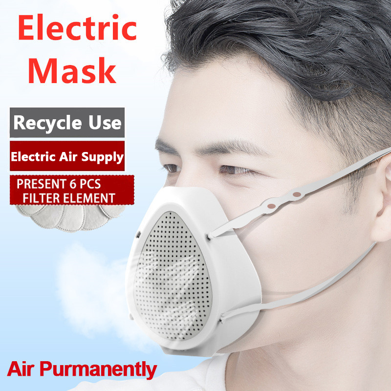 Electric Masks Sports Riding Protective Masks Electric Filter Masks Unisex Air Purifier Respirator Dust Masks Dropshipping