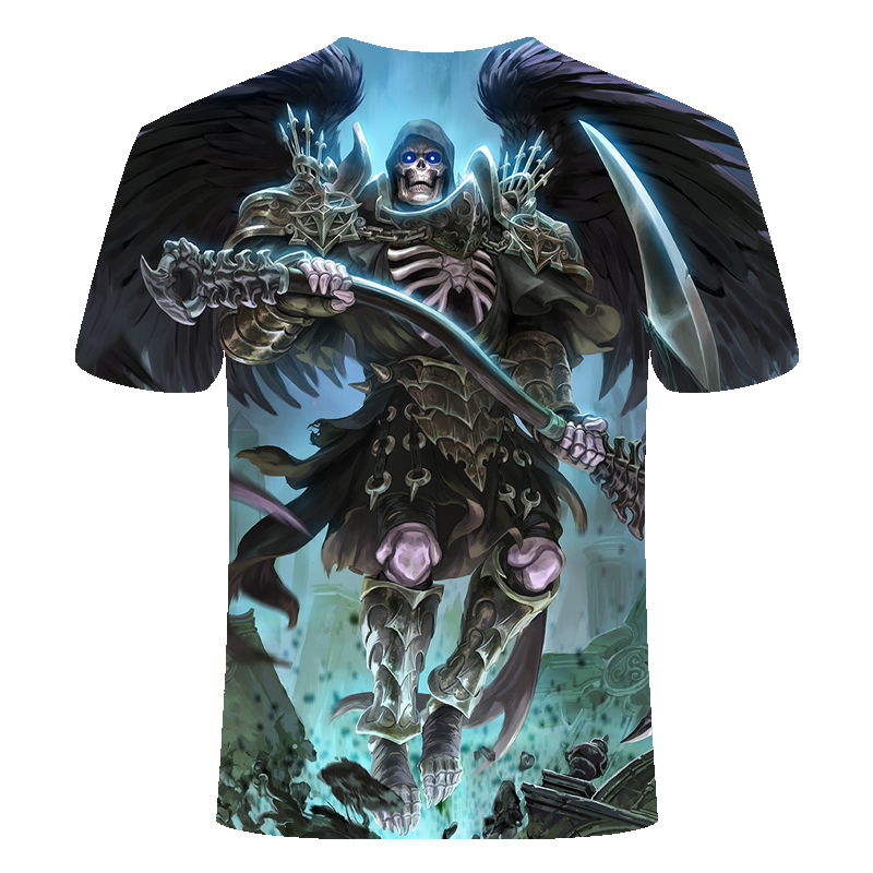 Drop Ship Summer NewFunny skull 3d T Shirt Summer Hipster Short Sleeve Tee Tops Men/Women Anime T-Shirts Homme Short sleeve tops 31