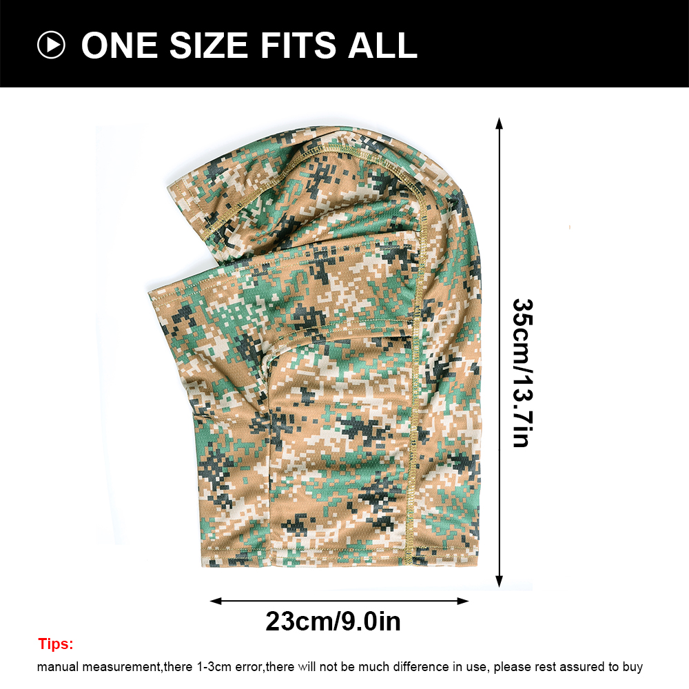 Image 3 - Camouflage Tactical Outdoor Balaclava Full Face Mask Bicycle Hunting Hiking Cycling Army Sport Bike Military Liner Scarf Cap-in Scarves from Sports & Entertainment