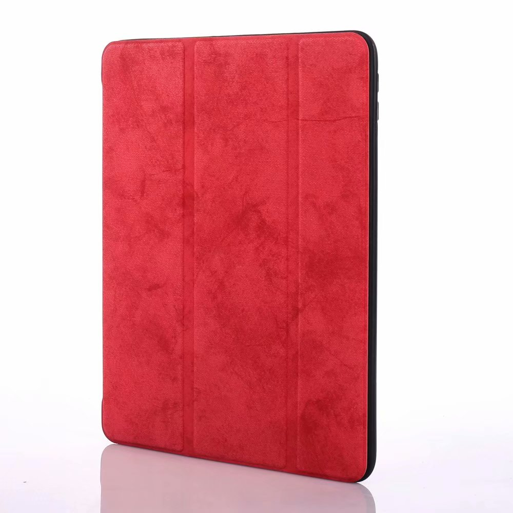 for iPad 12.9 Red Red For iPad Pro 12 9 2020 Case Pencil Holder Smart Trifold Case Cover Auto Sleep Wake