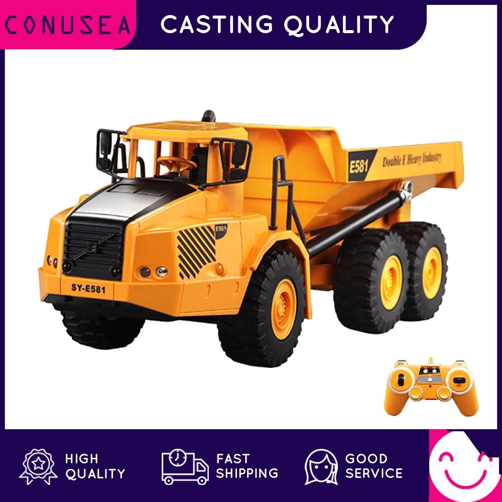 CONUSEA 1:16 RC Truck Dumper Caterpillar Tractor Model Engineering Car Excavator 2.4GHz Radio Controlled Car Toys For Boys