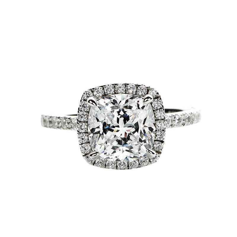 2020 kissen cut 3ct Lab Diamant Ring 925 sterling silber, Verlobung, Hochzeit band Ringe für Frauen männer Moissanite Partei Schmuck