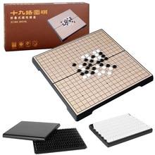 Weiqi – jeu d'échecs magnétique pliable, jeu de Table léger et Portable, jeu d'échecs chinois pour parents et enfants, 19x19