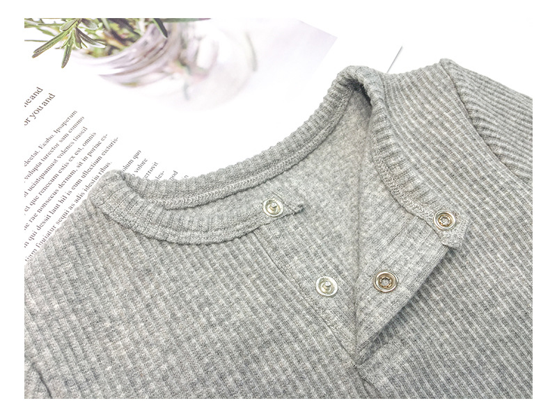 Soft Ribbed Toddler Girl Pajamas For Baby Boys Clothes Set Autumn Winter Children Outfits Long Sleeve Tops Pants 2 Pcs Kids Suit (38)