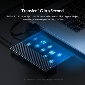 ORICO LSDT M.2 NVME корпус USB C Gen2 10 Гбит/с PCIe SSD чехол M2 SATA NGFF 5 Гбит/с SSD чехол инструмент бесплатно для 2230/2242/2260/2280 SSD