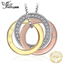 JPalace You and Me Silver Pendant Necklace 925 Sterling Silver Choker Statement Necklace Women Silver 925 Jewelry Without Chain 925 pure silver silver manufacturers china wind auspicious elephant pendant and intime stereo sweater chain pendant