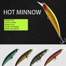 Thritop 2019 New Minnow Bait 110MM 15.5G 5 Various Colors TP105 Professional Bass Fishing Lure Hard For Tackle