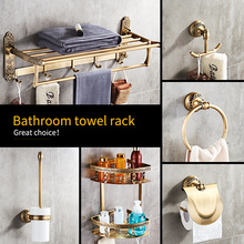 Free shipping black gold toilet bathroom accessories set pap