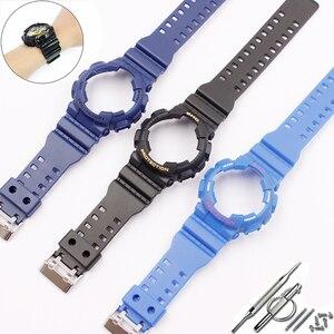 Image 4 - 時計アクセサリーカシオ樹脂ストラップG SHOCK ga gls gd 110 100 120ピンバックル16ミリメートル男性のと女性のゴムスポーツ腕時計ケース