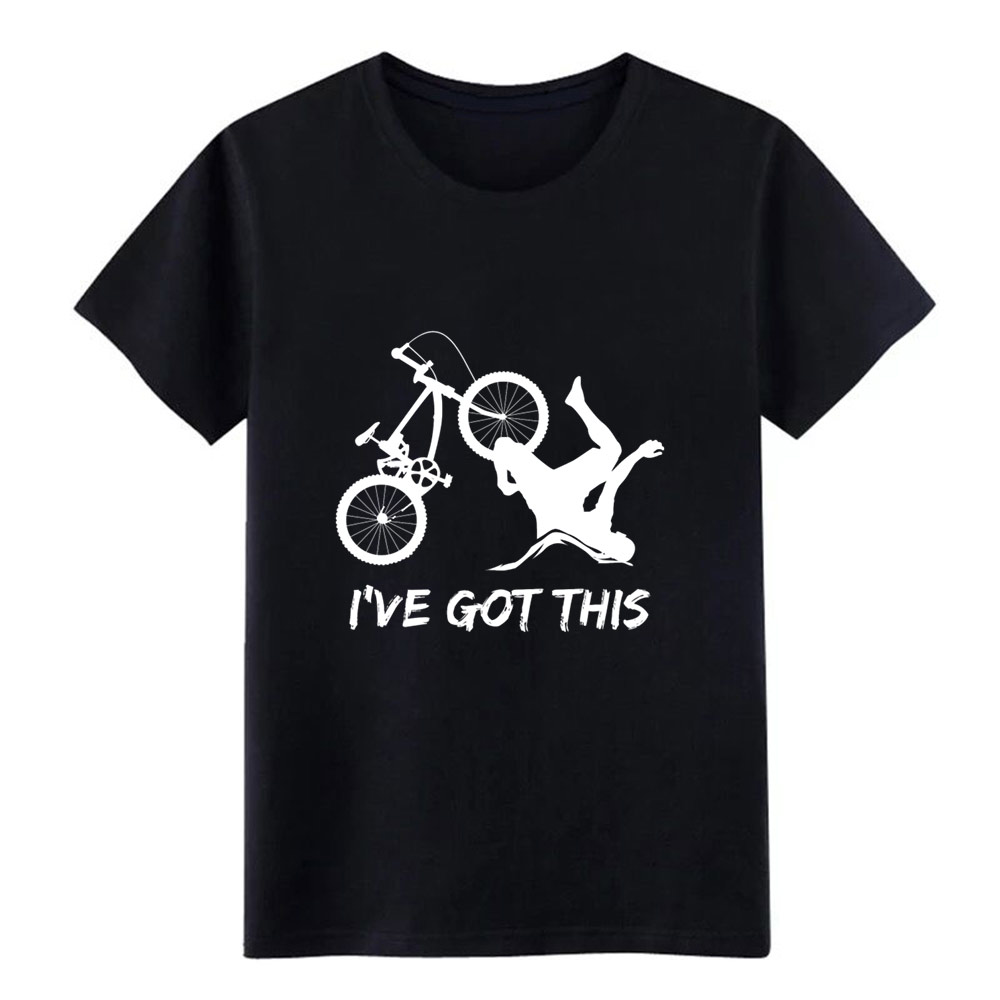 Mountain Bike Tee Bike Print Bmx Graphic     T Shirt Men Create 100% Cotton S-3xl Kawaii Famous Basic Spring Leisure Shirt