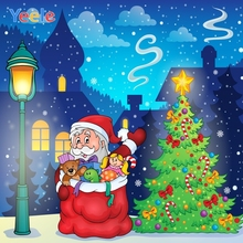 все цены на Yeele Christmas Photocall Snow Santa Claus Pine Home Photography Backdrops Personalized Photographic Background For Photo Studio онлайн