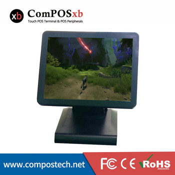 China made advanced black 15 inch capacitive touch screen POS system for supermarket