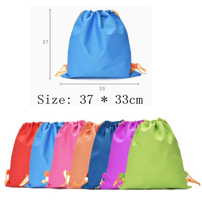 New Drawstring Pocket Solid Color Drawstring Shoulders Casual Drawstring Pocket
