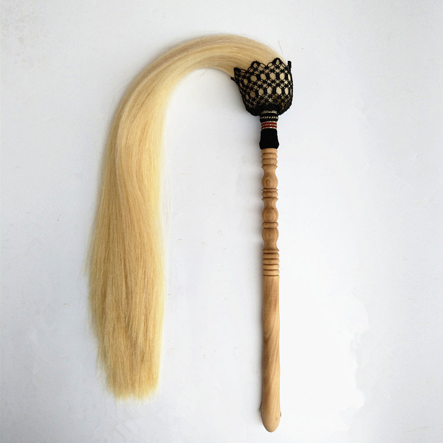Authentic Daoist Horsetail Whisk 1