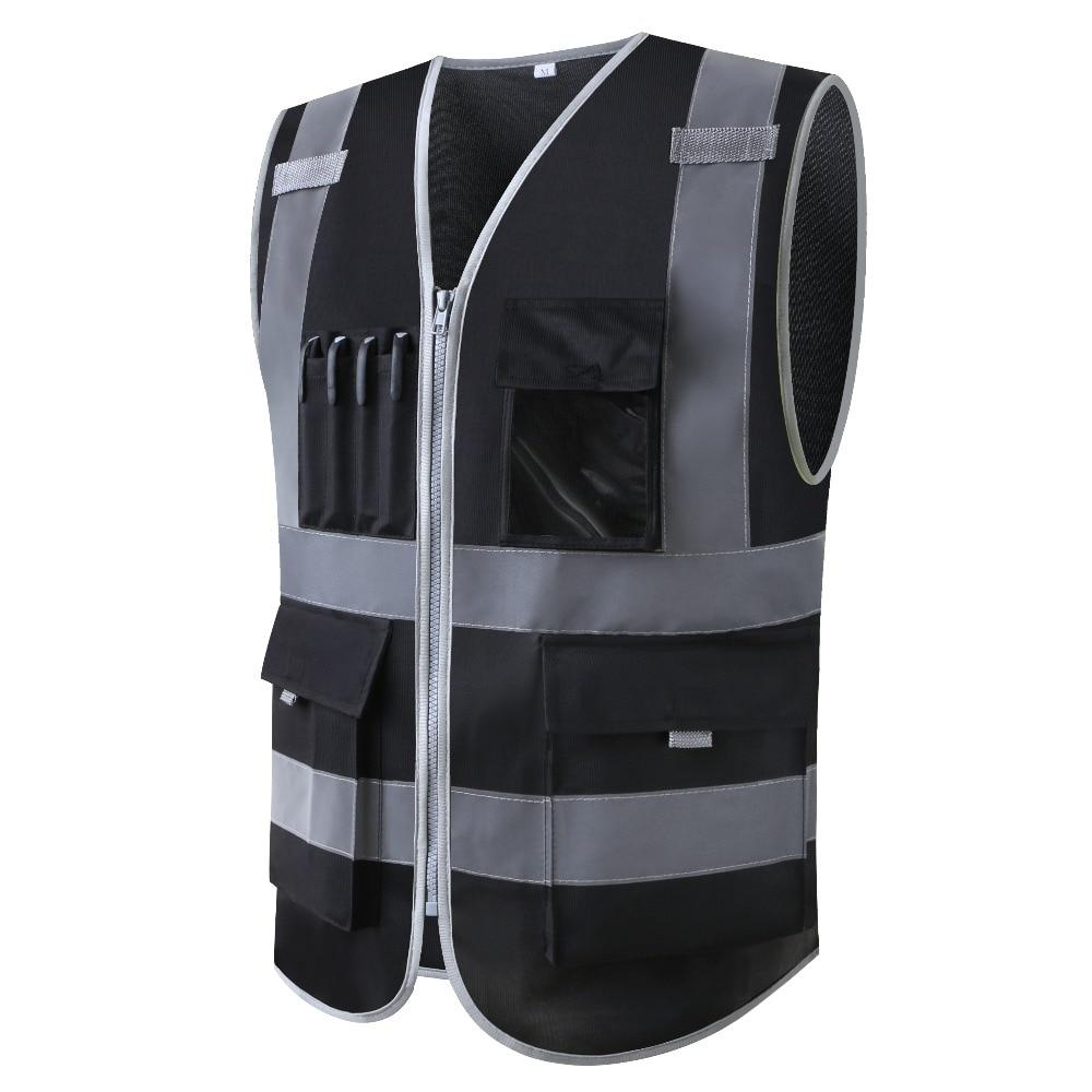 Chaleco reflectante de seguridad para construcción ropa de trabajo de seguridad multibolsillo