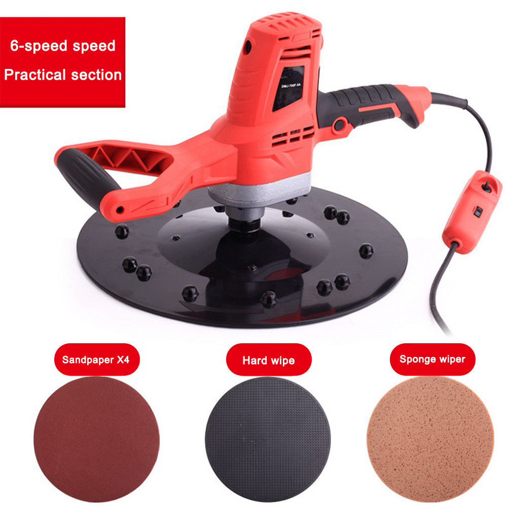 220V Electric Concrete Epoxy Cement Mortar Trowel Masons Plastering Bucket Trowel Tool Wall Smoothing Polishing Machine