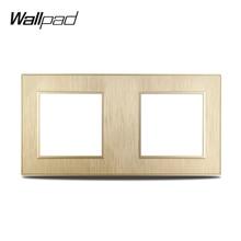 Wallpad S6 DIY двухсекционная золотистая панель матовый ПК пластик для стены розетка с выключателем накладка под алюминий свободное сочетание, 172...