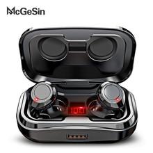 McGeSin אלחוטי Bluetooth אוזניות 2020 חדש TWS אוזניות 9D סטריאו נשמע מוסיקה אוזניות IPX7 עמיד למים עם 3500mAh עבור טלפון