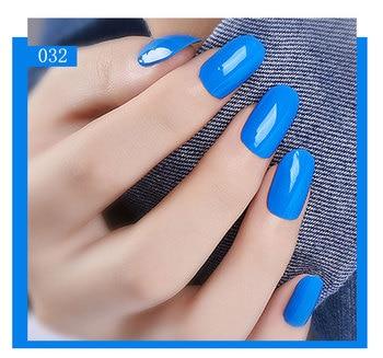 Beautilux Gel de esmalte de uñas de Color azul de geles de esmalte de uñas Semi permanente laca UV LED laca lote 10ml * 6 uds