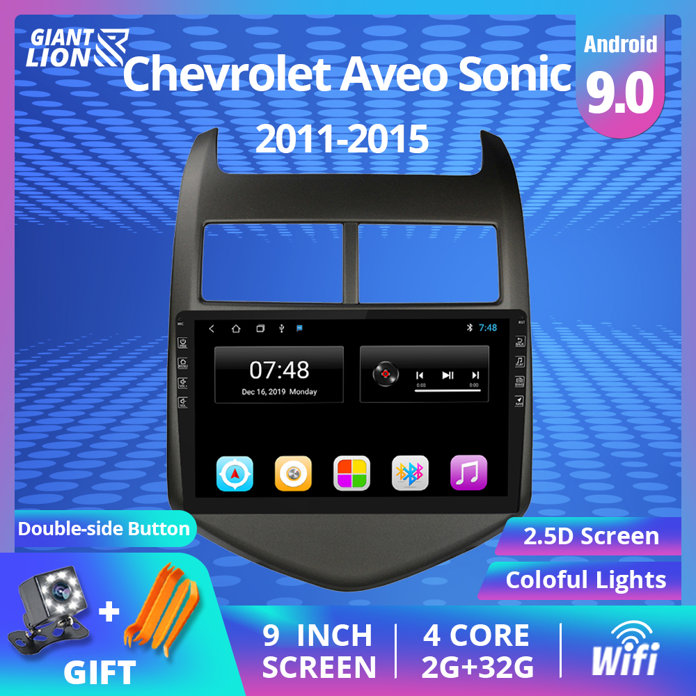 2DIN Android 9.0 Car GPS Multimedia Player For Chevrolet <font><b>Aveo</b></font> Sonic 2011-2015 Car Radio GPS Navigation Support DVR DVD Player image