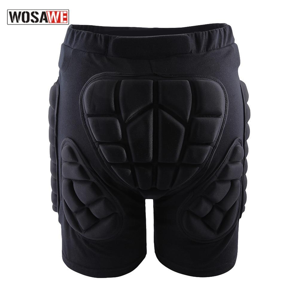 Wosawe Roller Skating Hip Pad Pants Ski Pants Hip Pad Shock-Resistant Pants Nursing Seat Cushion Adult Children