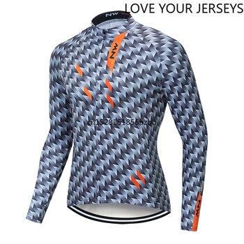 NW Verano de secado de Ciclismo de manga larga jersey hombre jersey...