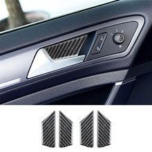 4 шт автомобильные наклейки из углеродного волокна на дверную