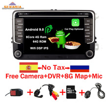 RNS 510 Android 9.0 Car DVD Player for VW golf 5 6 Touran Passat B6 CC Jetta polo Tiguan Magotan radio GPS Multimedia Player android 7 1 7 2din car dvd for vw polo golf 5 6 polo passat b6 cc jetta tiguan touran eos sharan scirocco caddy with 4ggps navi