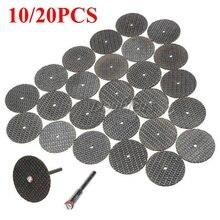 20PCS/10PCS 32mm Resin Cutting Wheel Discs Set Kit + 1 Mandrel for Dremel Rotary Tool