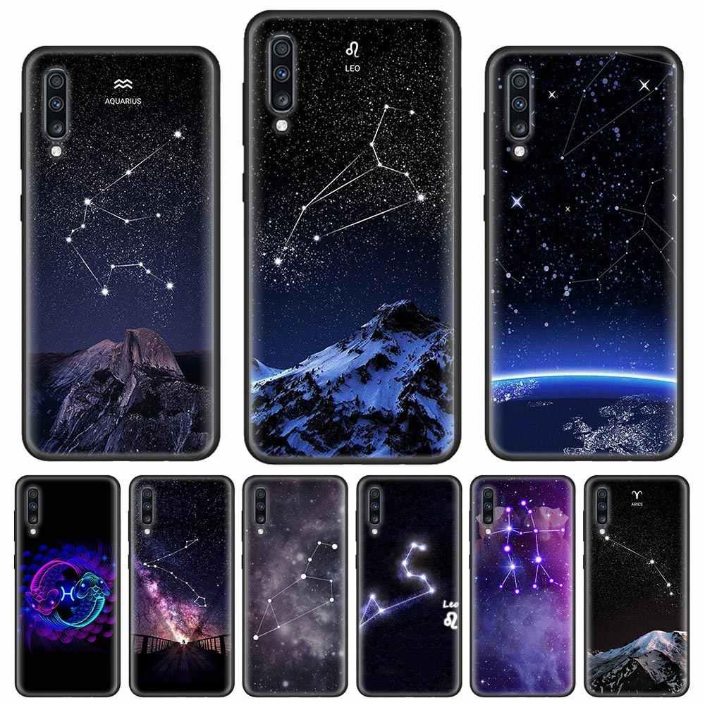 Yumuşak samsung kılıfı Galaxy A51 A71 A81 A91 A10 A10e A20 A20e A30 A50 A70 A80 A90 kapak çapa zodyak işaretleri takımyıldızı yıldız Mo