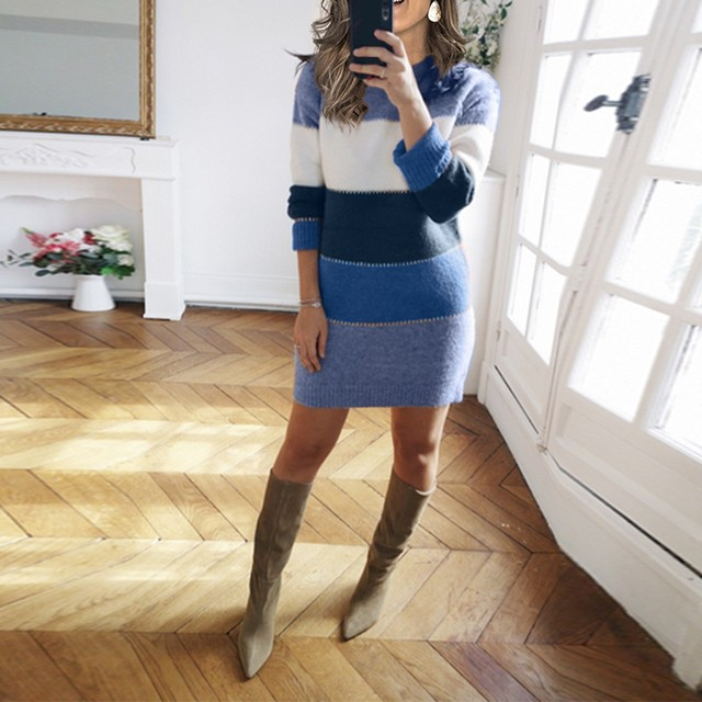 Striped Sweater Day Dress 6