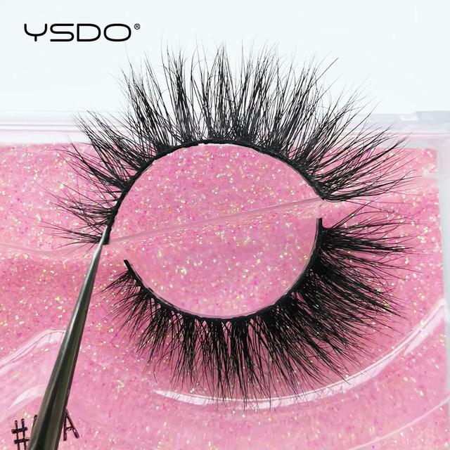 YSDO 1 pair 3D Mink Eyelashes Cruelty free Lashes Makeup Dramatic False Eye Lashes Fluffy Full Strip Thick Mink Lashes Faux Cils 5