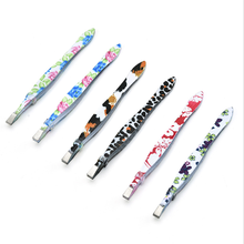 New 1pcs Flower Eyebrow Tweezers Stainless Steel Face Hair Removal Eye Brow Trimmer Eyelash Clip Cosmetic Makeup Tool(China)