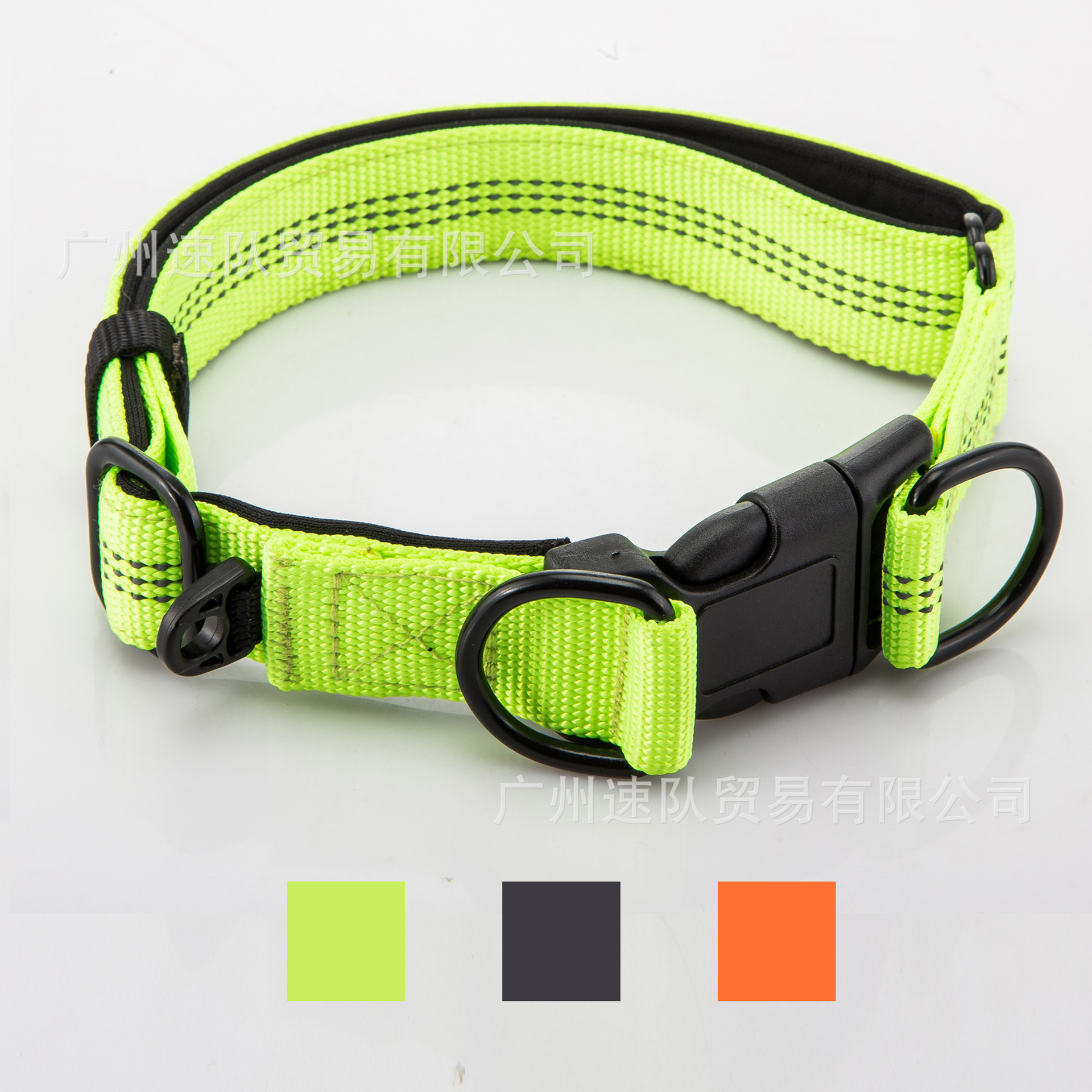 New Style Pet Collar Cross Border Supply Dog Neck Ring Adjustable Neck Ring Double D Ring Reflective Neck Ring Variety Color