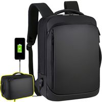 Anti Theft Backpack for Men Waterproof Travel Backpack with USB Charging Port Fits 15.6 Inch Laptop
