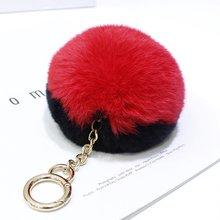 Импортный меховой шар Рекс Кролик Подвеска сумка брелок