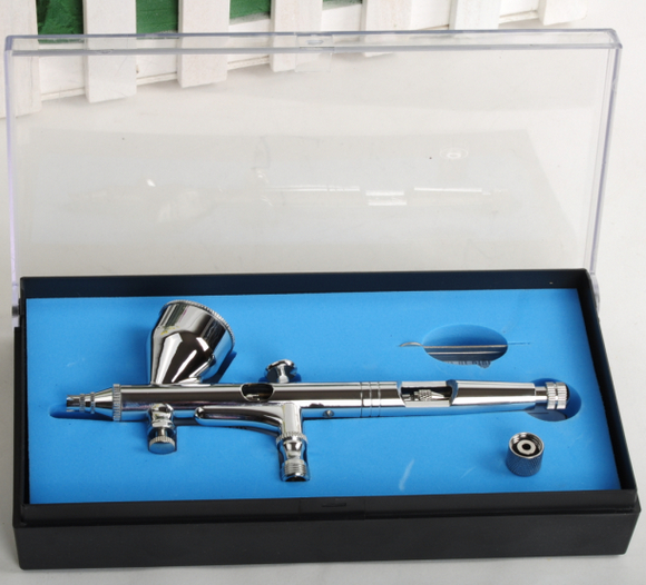 New HD-180 Airbrush 0.2mm 9cc Dual-Action Spray Gun Air Brush Painting Tool Kit