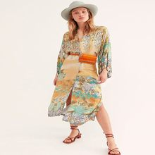 2021loose rayon long beach blusa jaqueta longo topo biquíni blusa de natação robe cor correspondência beachwear
