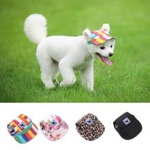 Summer Pet Dog Hat with Ear Holes Adjustable Cap Outdoor Dog Baseball Cap Canvas Small Dog Sunscreen Pet Accessories