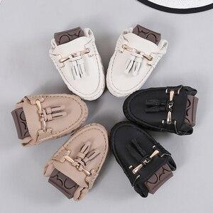Image 3 - Mocassins souples à enfiler pour femmes, chaussures plates fendues, plates, à franges, ballerines, solides, pour infirmière, collection 2020