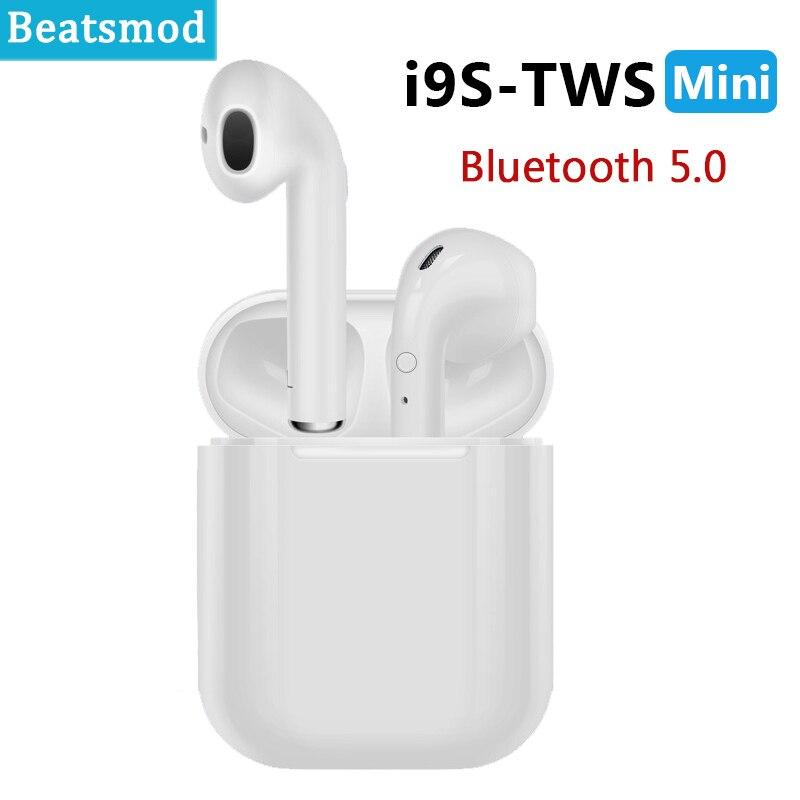 Настоящие беспроводные стерео наушники I9S TWS беспроводные наушники Mini 5,0 Bluetooth наушники невидимая гарнитура вкладыши для всех смартфонов