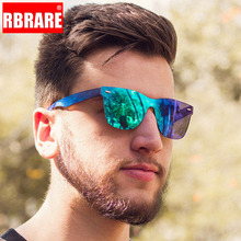 RBRARE 2019 Siamese Sunglasses Men Rice Nails Ladies
